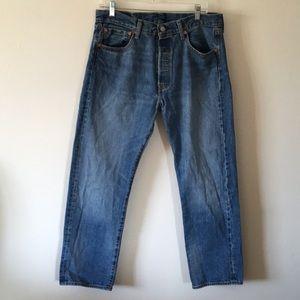 Levi's 501 Button Fly Men's Size 34W/29